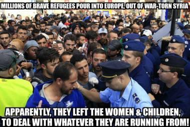 mannlige flyktninger